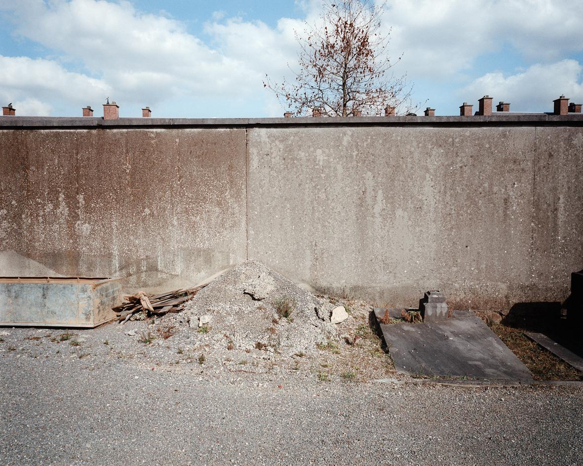 philippe mailleux, cimetière, lisières, Bruxelles